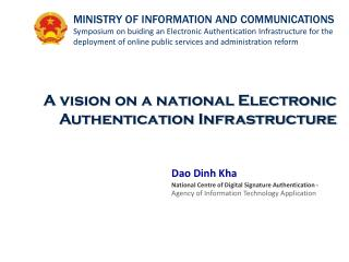 A vision on a national Electronic Authentication Infrastructure
