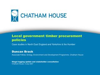 Local government timber procurement policies