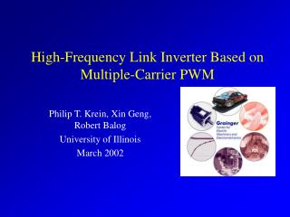 High-Frequency Link Inverter Based on Multiple-Carrier PWM