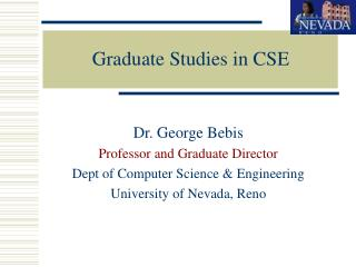 Graduate Studies in CSE