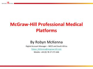 McGraw-Hill Professional Medical Platforms