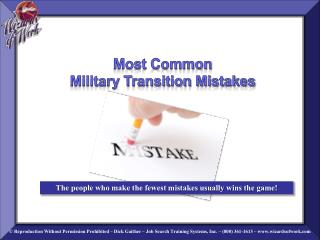 Most Common Military Transition Mistakes