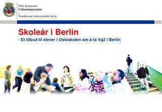 Skoleår i Berlin