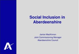 Social Inclusion in Aberdeenshire