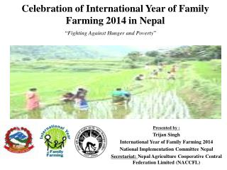 Celebration of International Year of Family Farming 2014 in Nepal