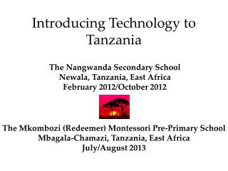 Introducing Technology to Tanzania