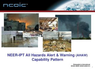 NEER-IPT All Hazards Alert & Warning  (AHAW)  Capability Pattern