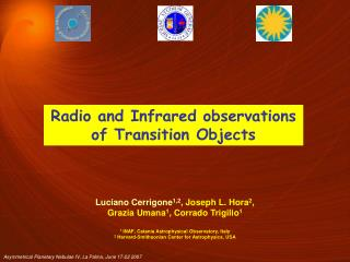Radio and Infrared observations of Transition Objects