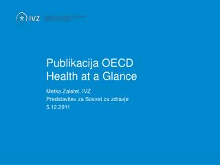 Publikacija OECD Health at a Glance