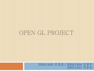 OPEN GL PROJECT