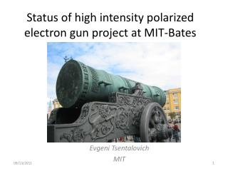 Status of high intensity polarized electron gun project at MIT-Bates