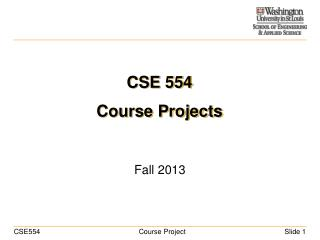 CSE 554 Course Projects