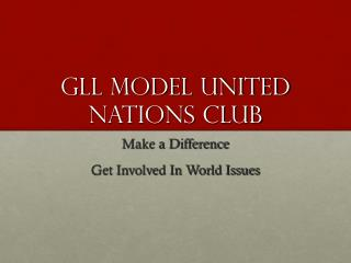 GLL Model United nations CLUB