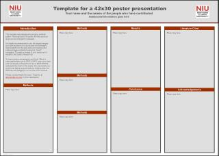 Template for a 42x30 poster presentation