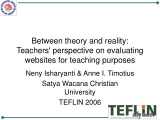 Between theory and reality: Teachers' perspective on evaluating websites for teaching purposes