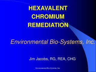Environmental Bio-Systems, Inc.
