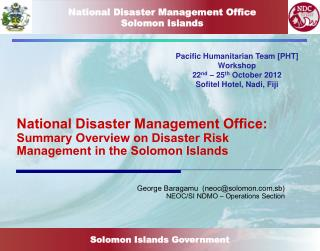 National Disaster Management Office Solomon Islands