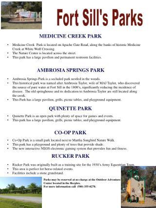 MEDICINE CREEK PARK