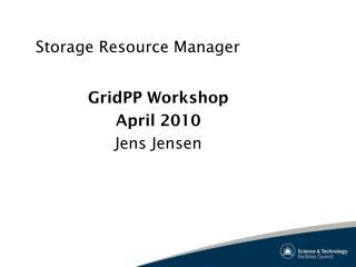 Storage Resource Manager
