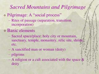 Sacred Mountains and Pilgrimage