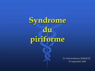 Syndrome  du  piriforme