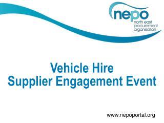 Vehicle Hire Supplier Engagement Event