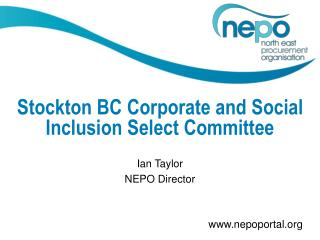 Stockton BC Corporate and Social Inclusion Select Committee