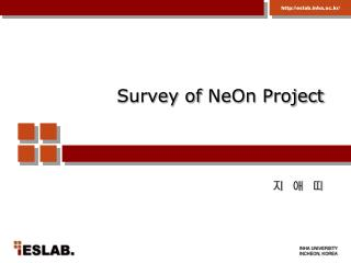 Survey of  NeOn  Project