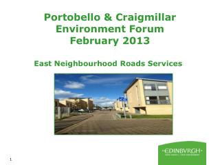 Portobello & Craigmillar Environment Forum February 2013