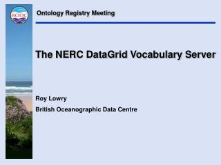 The NERC DataGrid Vocabulary Server
