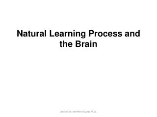 Natural Learning Process and the Brain