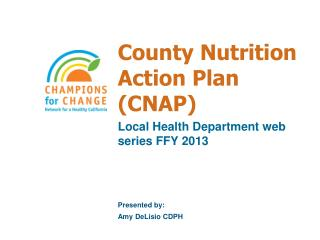 County Nutrition Action Plan (CNAP)