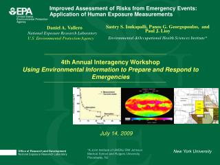 Improved Assessment of Risks from Emergency Events: Application of Human Exposure Measurements
