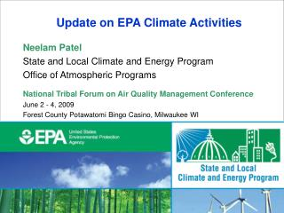 Update on EPA Climate Activities