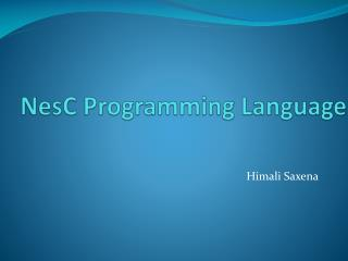 NesC  Programming Language