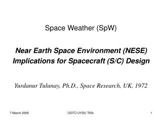 Space Weather (SpW)
