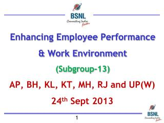 Enhancing Employee Performance & Work Environment (Subgroup-13)