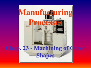 Milling Processes