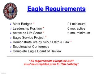 Eagle Requirements