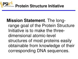Protein Structure Initiative