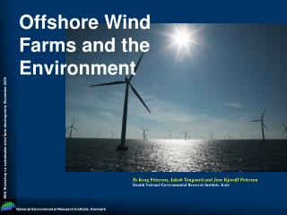 Offshore Wind Farms and the Environment