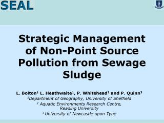 Strategic Management of Non-Point Source Pollution from Sewage Sludge