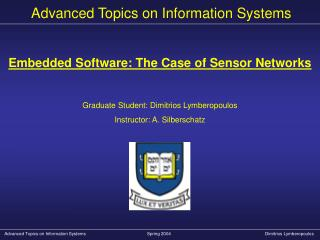 Advanced Topics on Information Systems