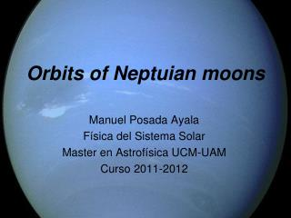 Orbits of Neptuian moons