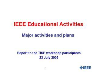 IEEE Educational Activities