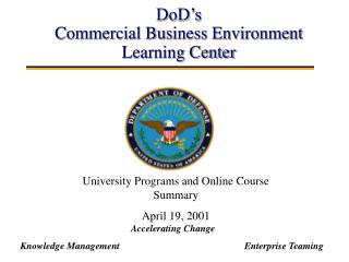 DoD's Commercial Business Environment Learning Center