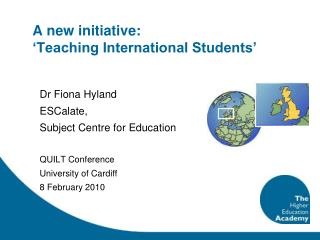 A new initiative: 'Teaching International Students'