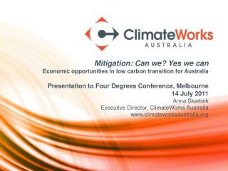 About  ClimateWorks Australia