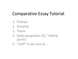 Comparative Essay Tutorial