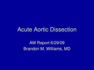 Acute Aortic Dissection